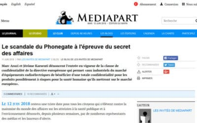 "Opinion ""The Phonegate scandal prey to business secrecy"" published by Mediapart"