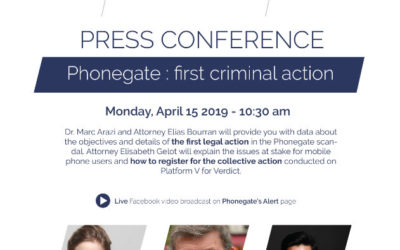 [Press Conference] Phonegate: first criminal action