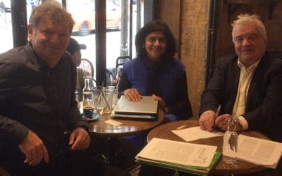 Working meeting in Paris with Professor Belpomme and Dr Pri Bandara