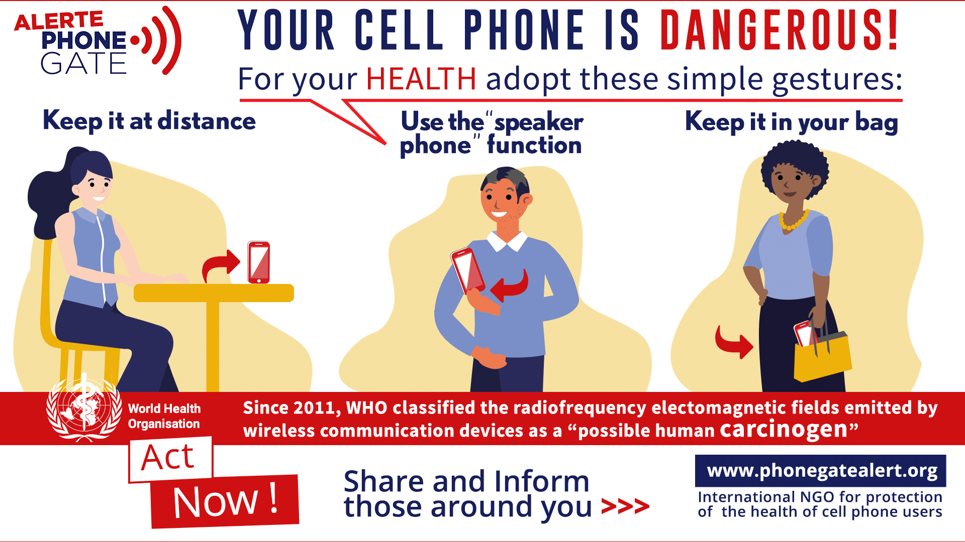 keep your mobile phone at a safe distance